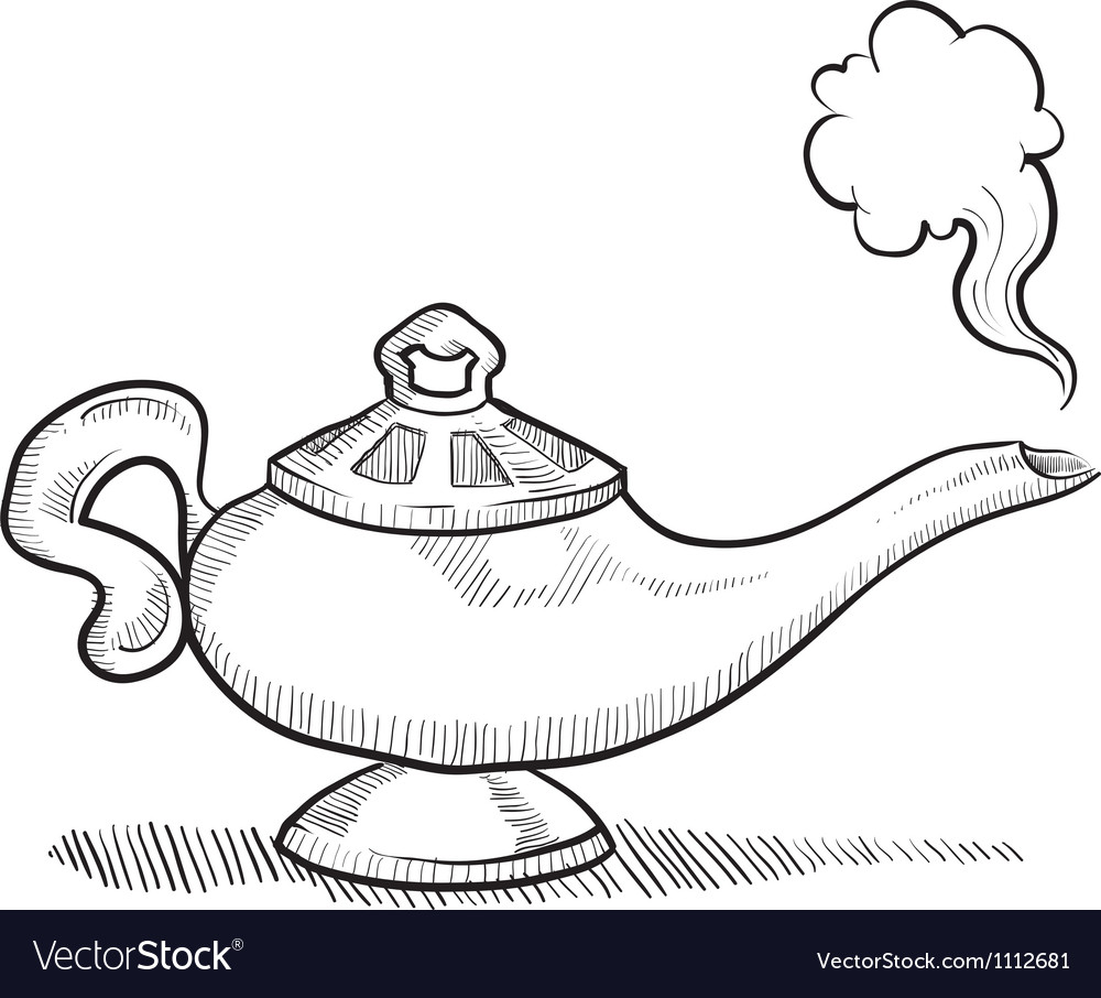 Genie lamp stock photos pictures royalty free genie - Doodle Genie Lamp Normal Vector Image