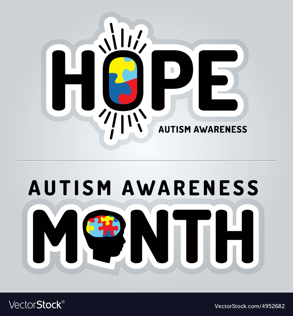 Autism Awareness Slogan Graphics vector image