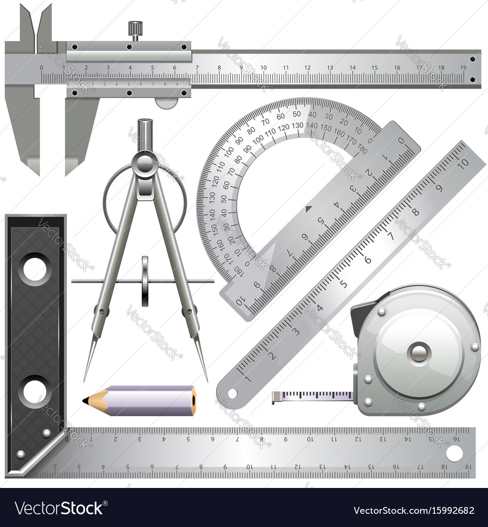 Measuring tools vector image