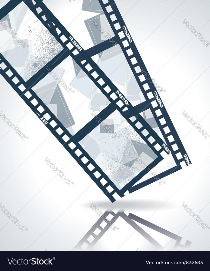 Old negative film strip vector image