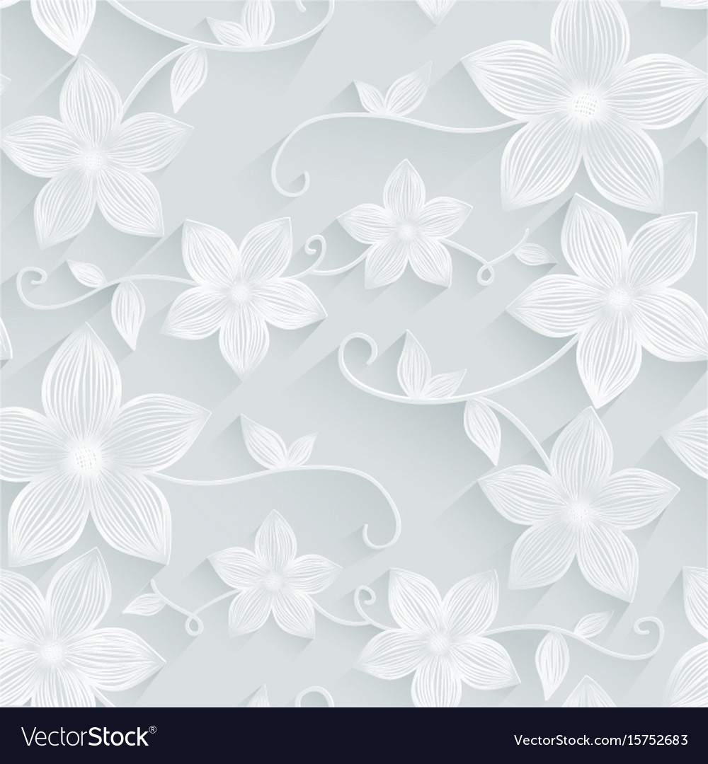 Seamless background floral pattern vector image