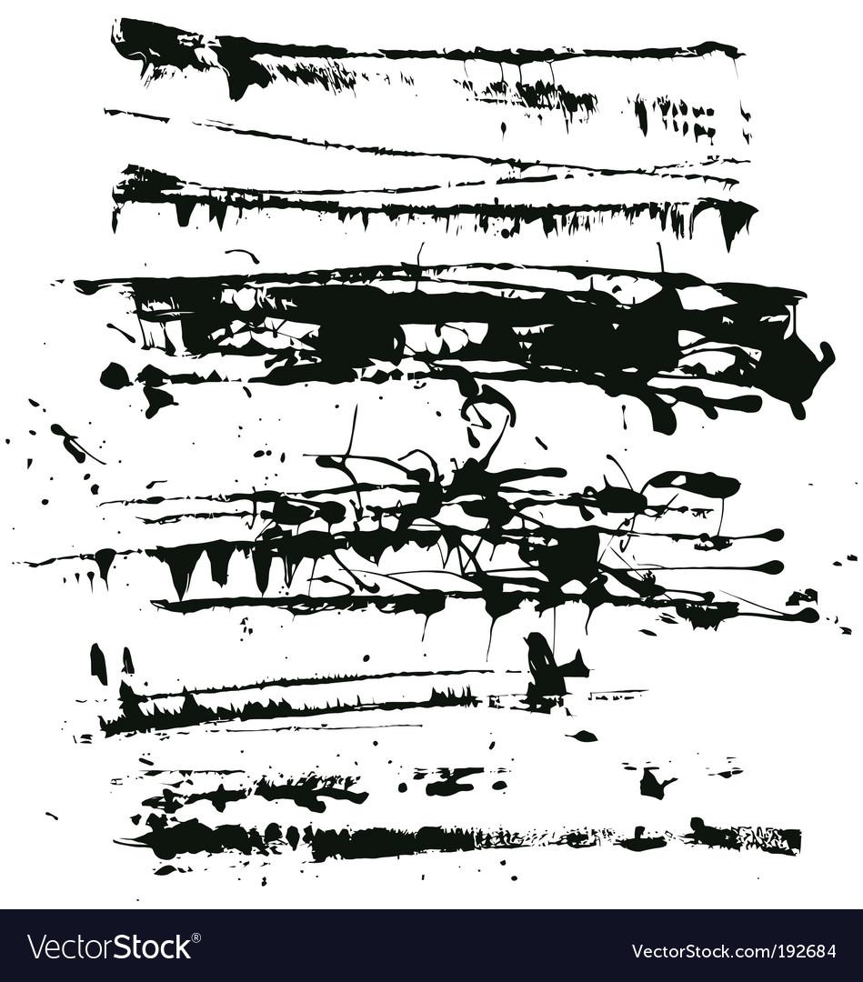 Splatter edges vector image