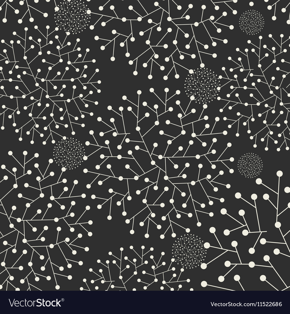 Abstract with leafs on dark grey background vector image