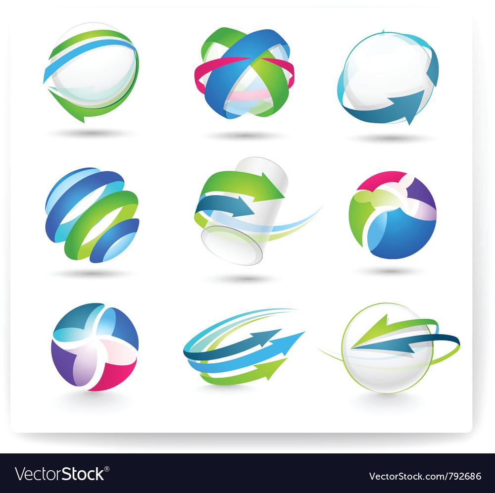 Collection of color elements vector image