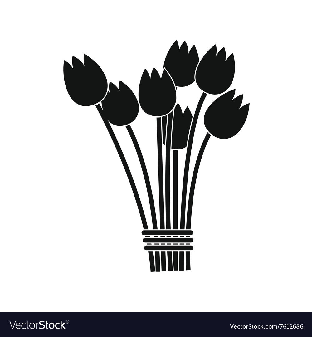 Tulips bouquet icon vector image