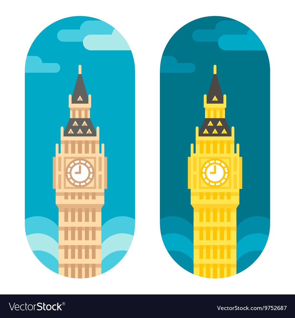 Flat design Big Ben vector image