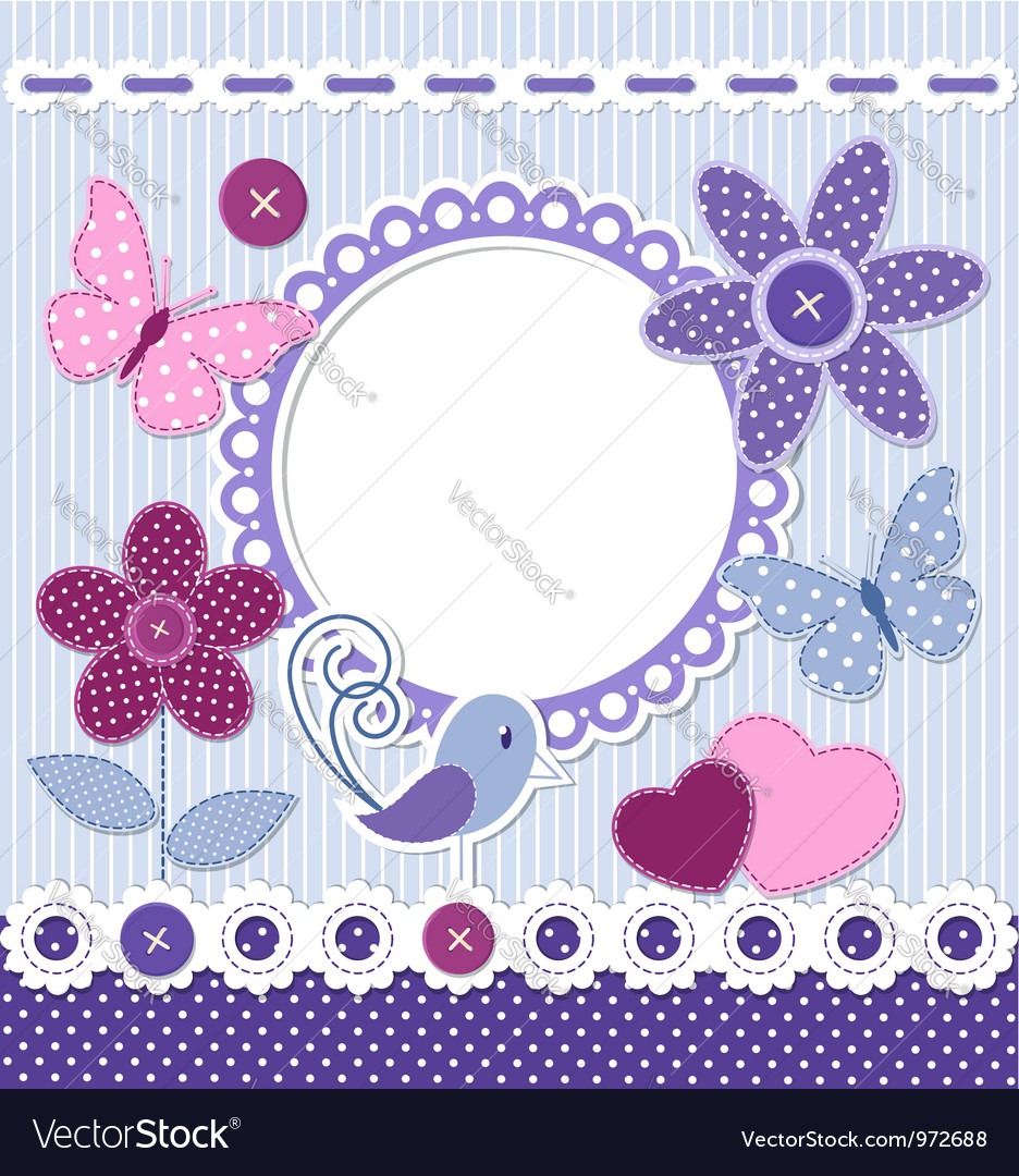 Retro design elements for scrapbooking vector image
