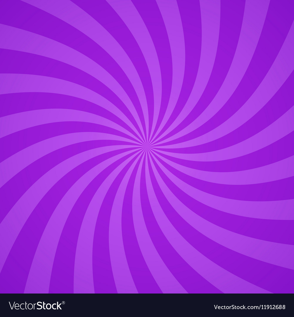 Swirling radial purple pattern background vector image