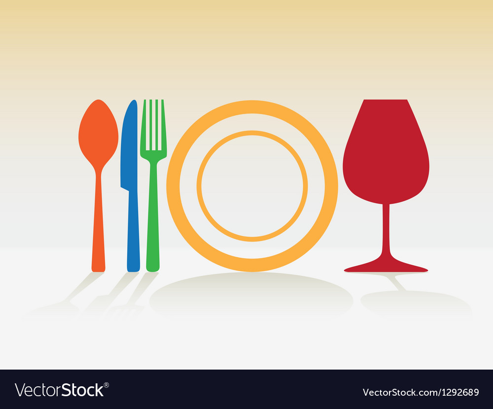 Cutlery Silhouette vector image