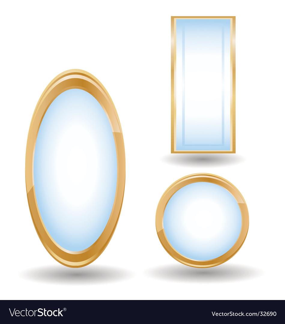 Mirrors vector image