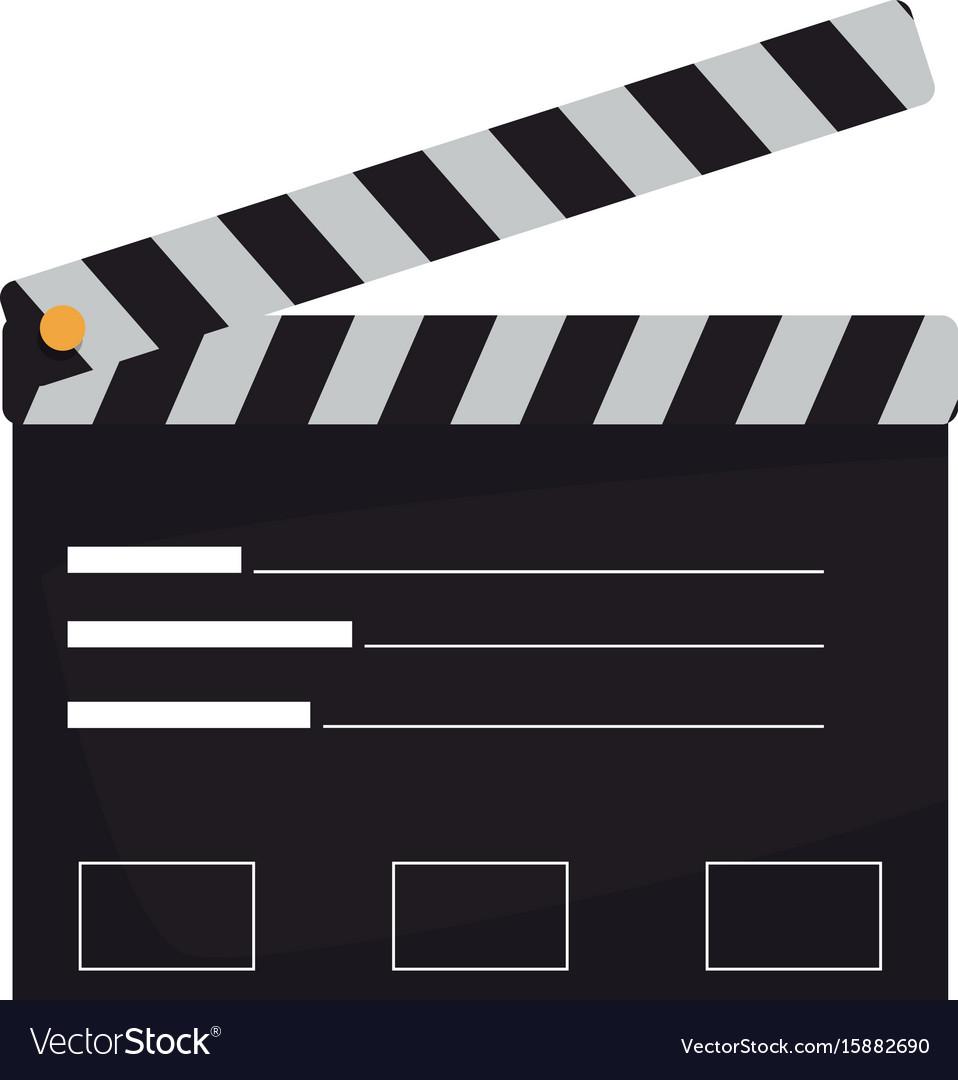 Film maker clapper board action icon vector image