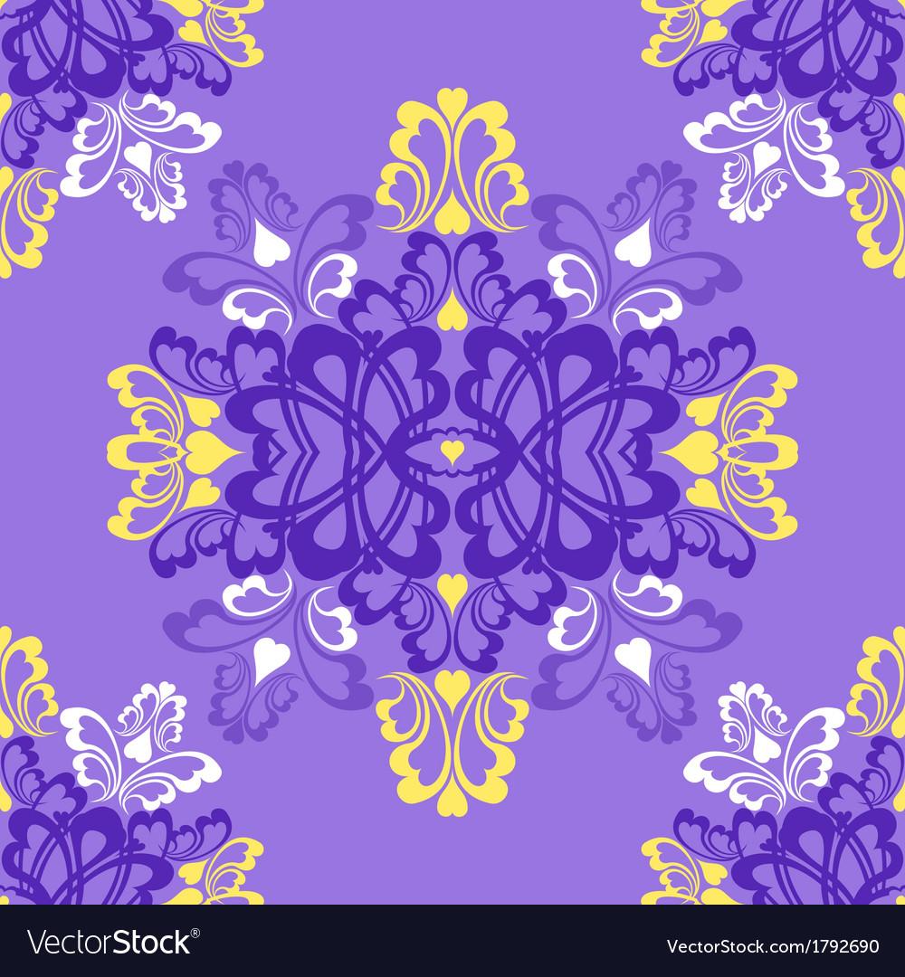 Violet seamless pattern vector image