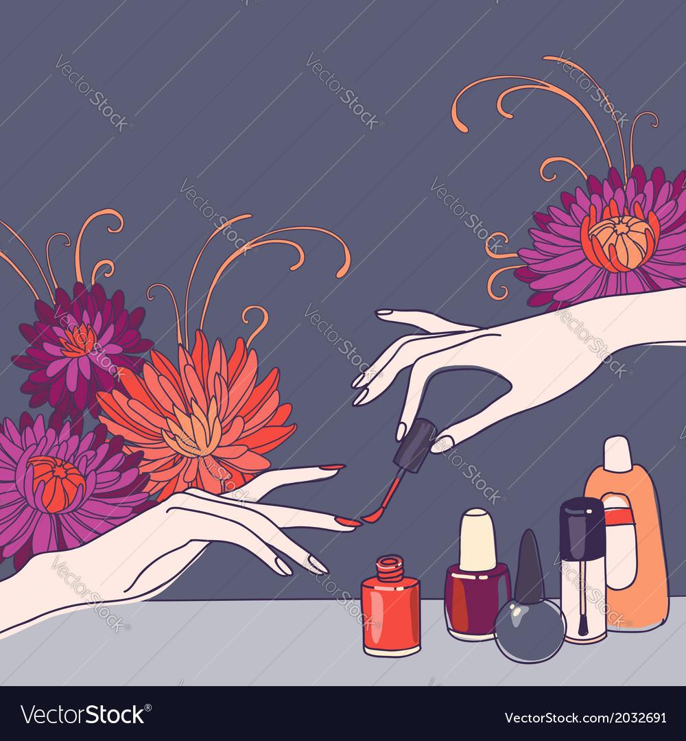 Nail Salon Royalty Free Vector Image