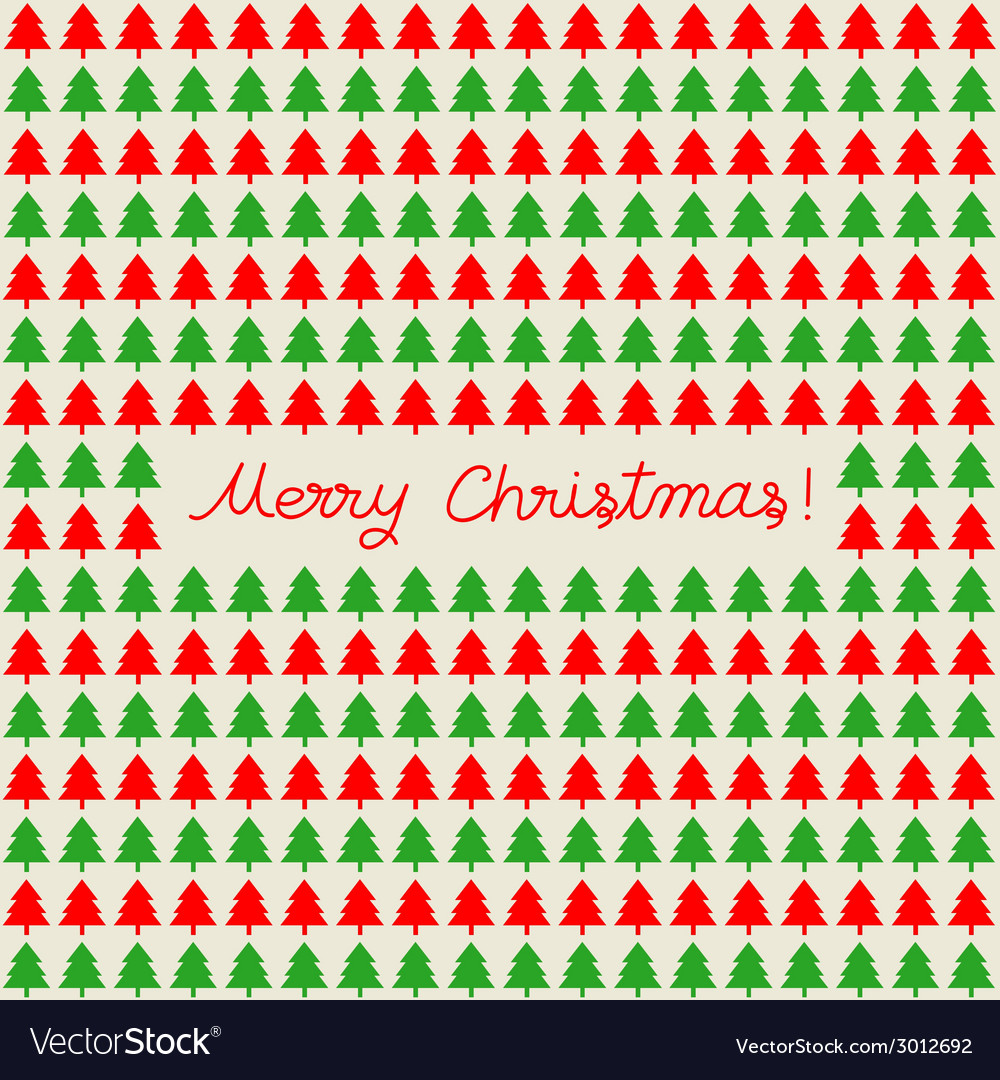 Merry Christmas greeting card17 vector image