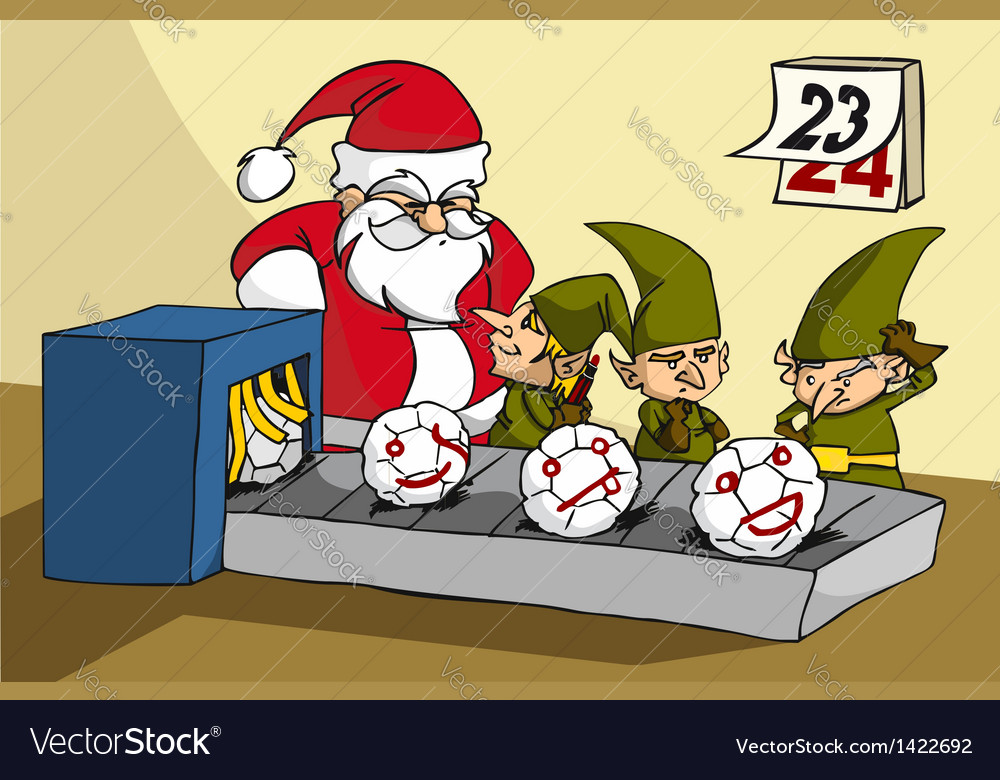 Oops elves been trapped while joking at xmas toy vector image