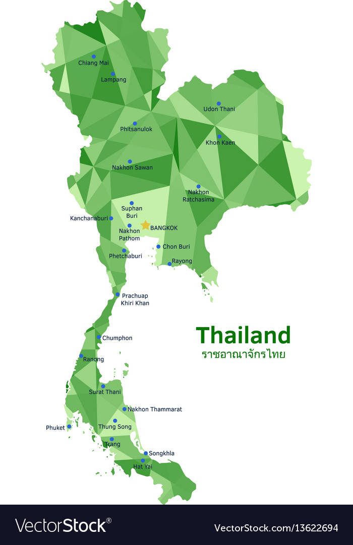 Map of thailand royalty free vector image vectorstock map of thailand vector image gumiabroncs Images
