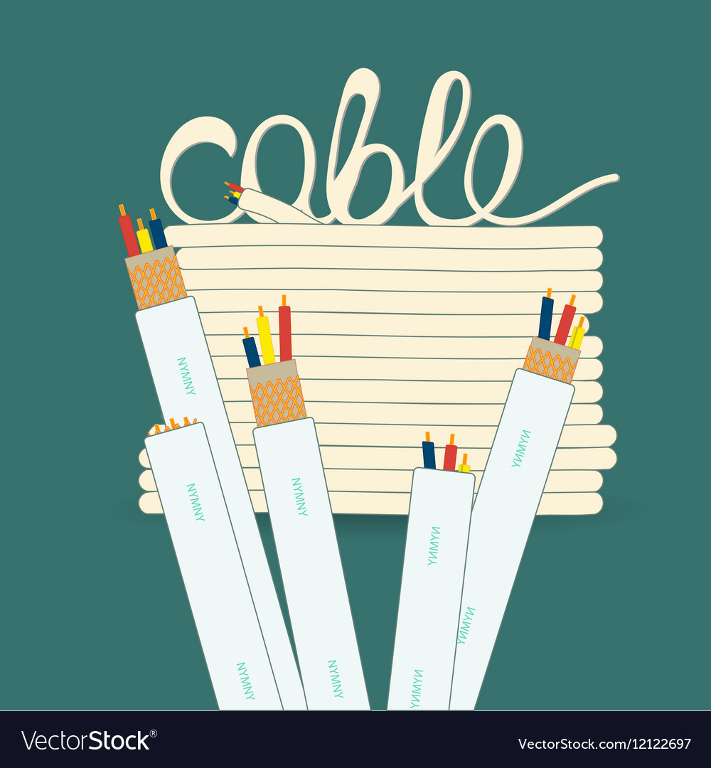 Cable wire cord Royalty Free Vector Image - VectorStock