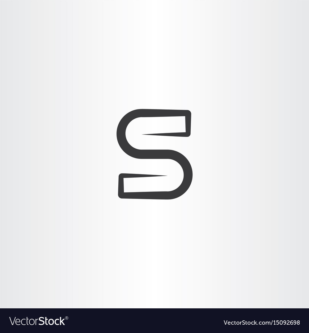 S logo icon sign vector image