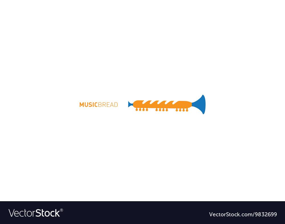 Creative development of musical logo vector image