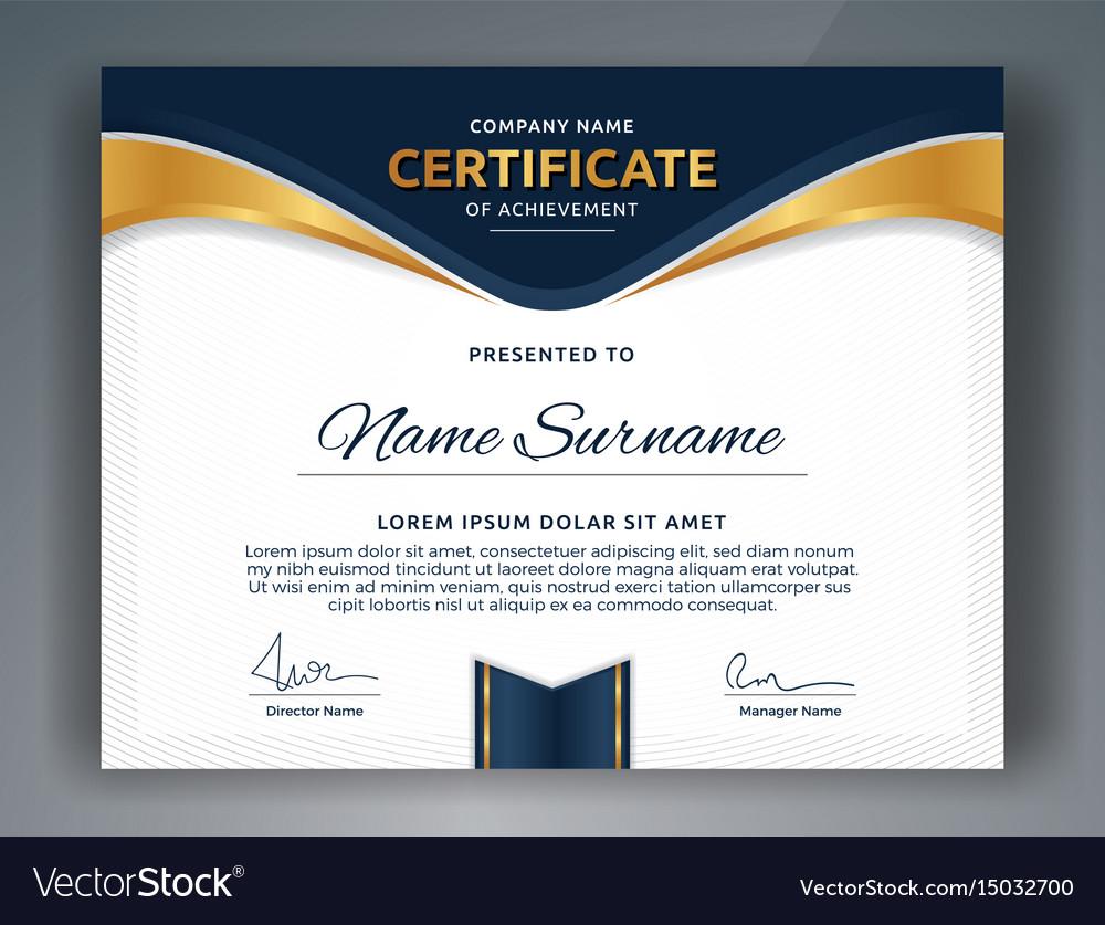 Multipurpose professional certificate template vector image multipurpose professional certificate template vector image 1betcityfo Gallery