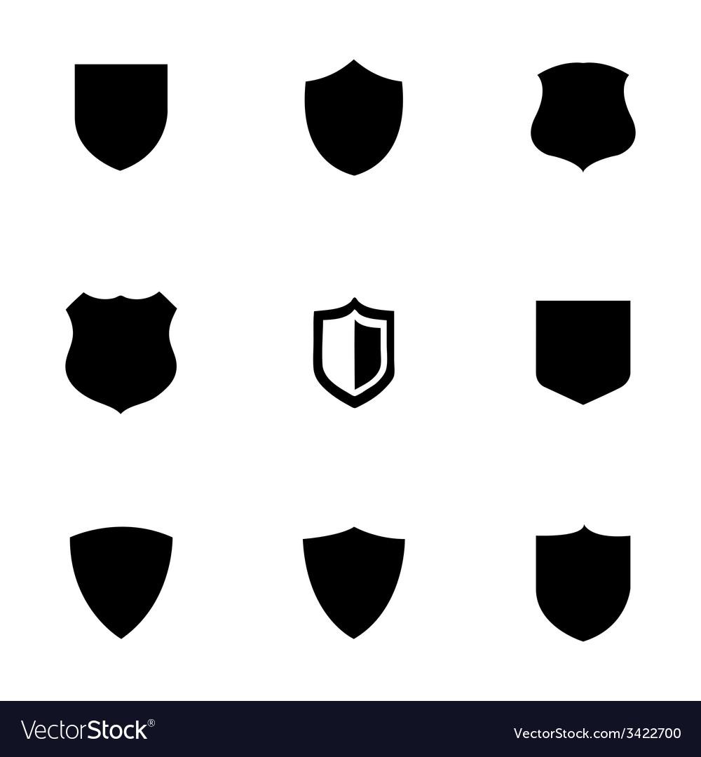 Shield icons set vector image