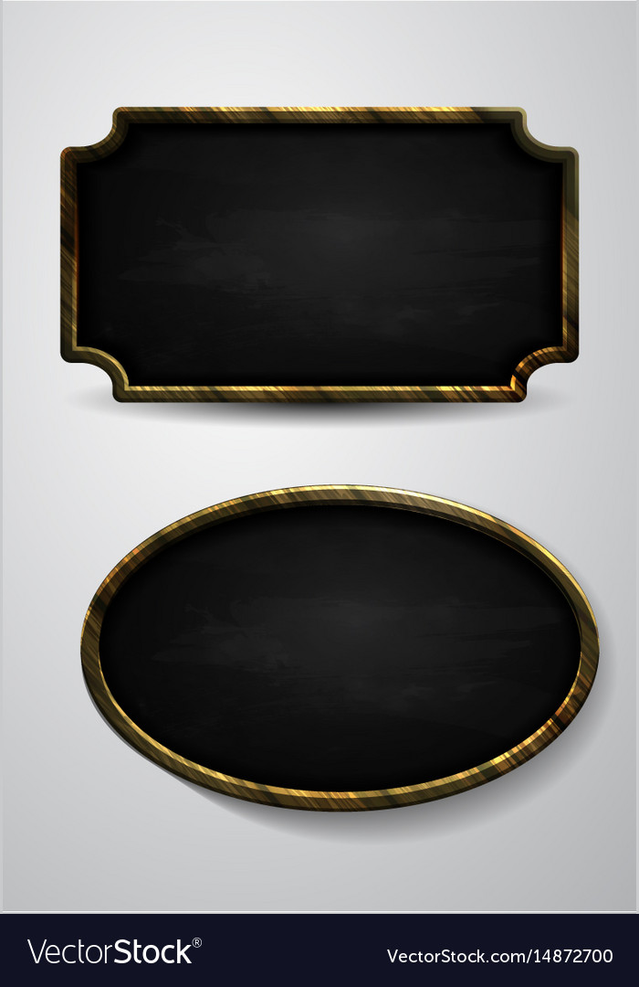 Wooden frame chalkboard background vector image