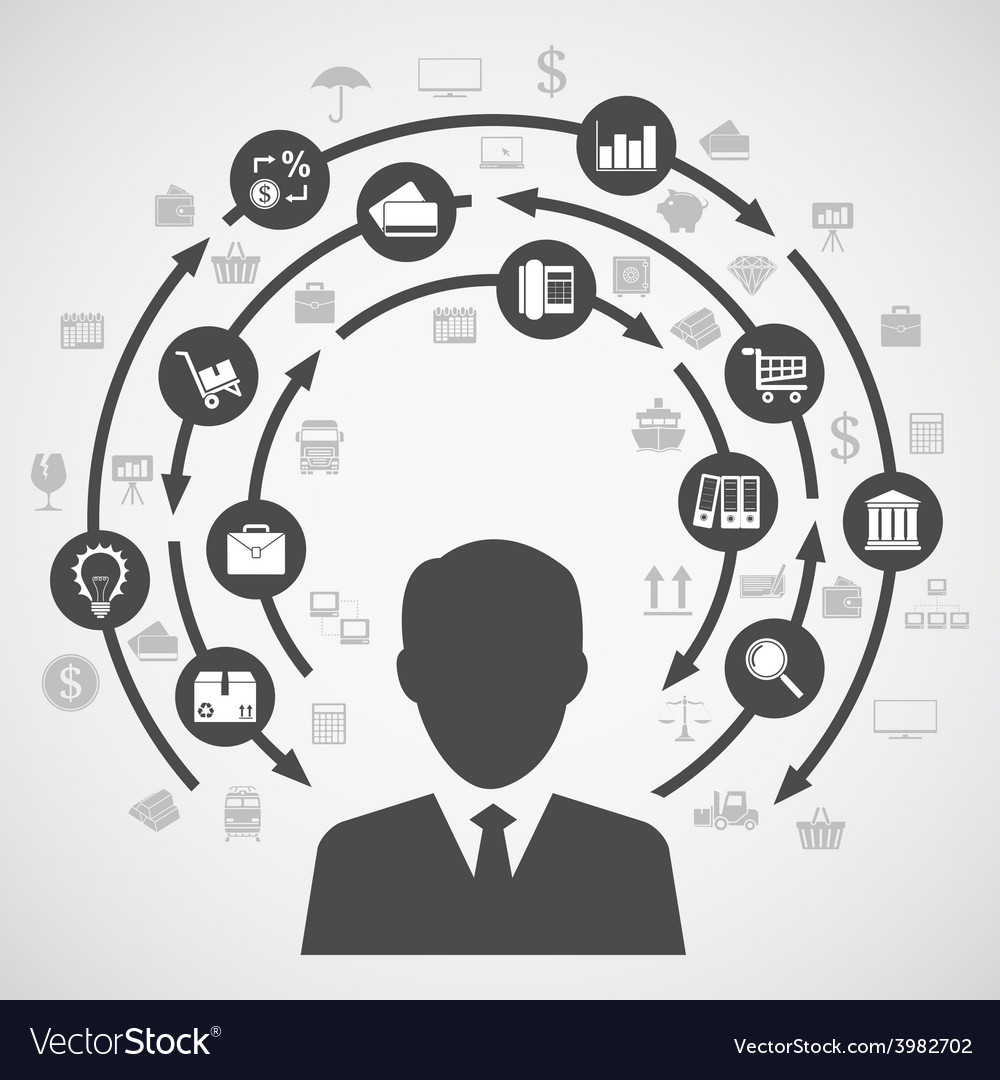Business diagram vector image