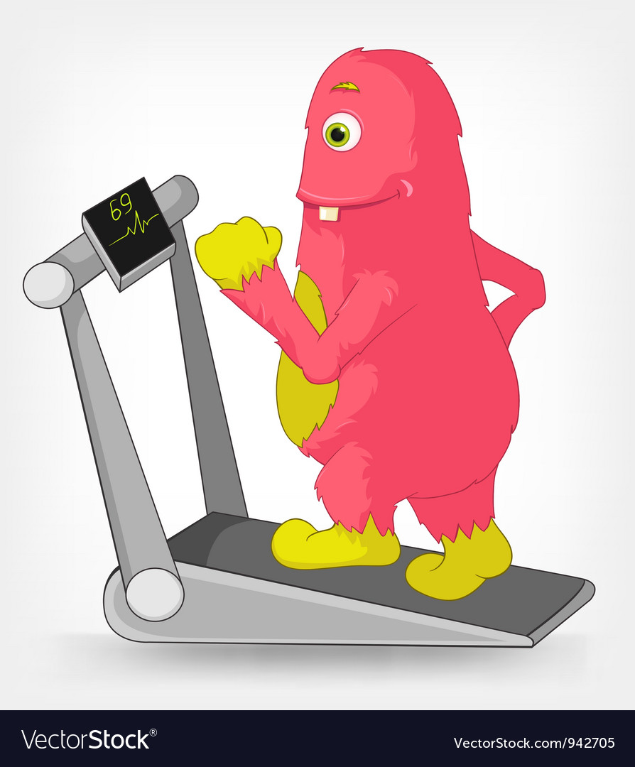 Funny Monster Gym vector image