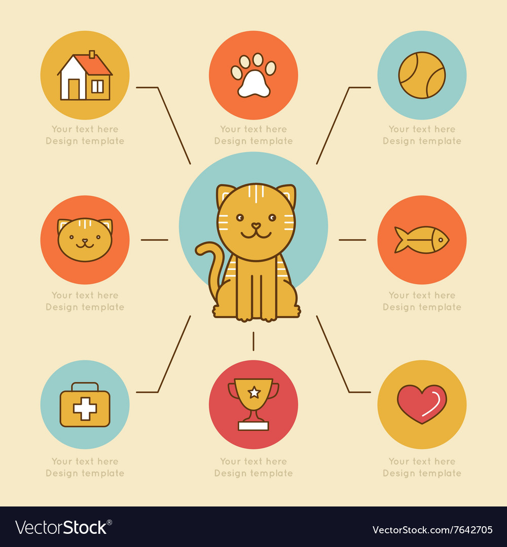 Infographics design elements icons and badges in vector image