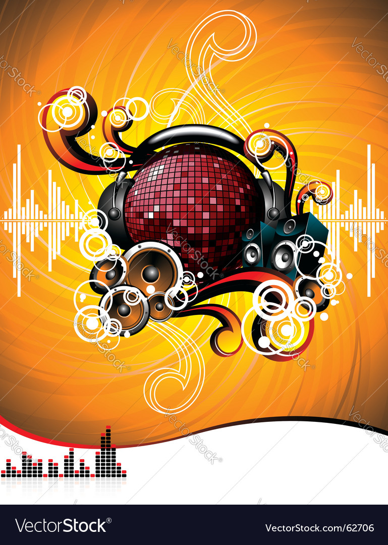 Illustration for a musical theme Vector Image