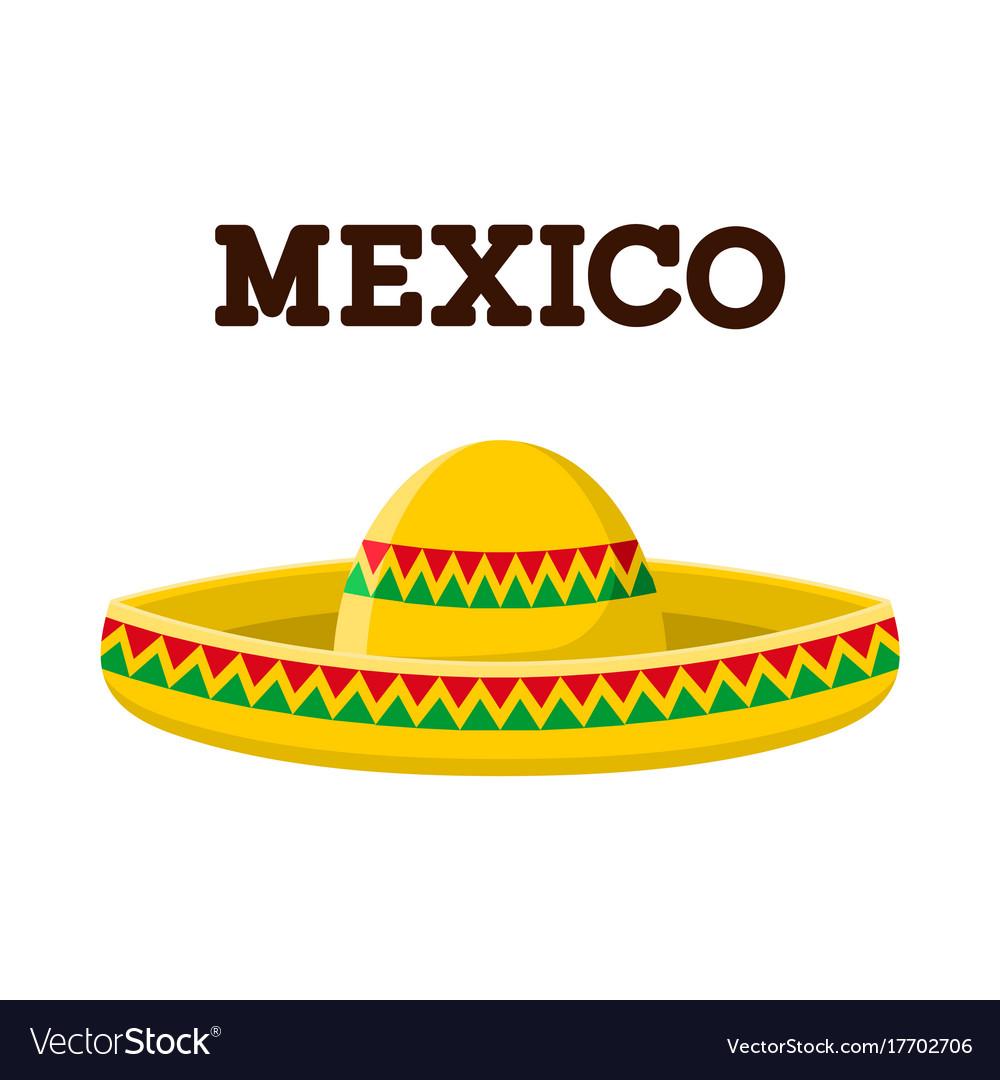 Mexican sombrero colorful image vector image