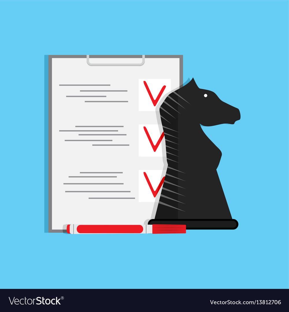Plan strategy checklist vector image