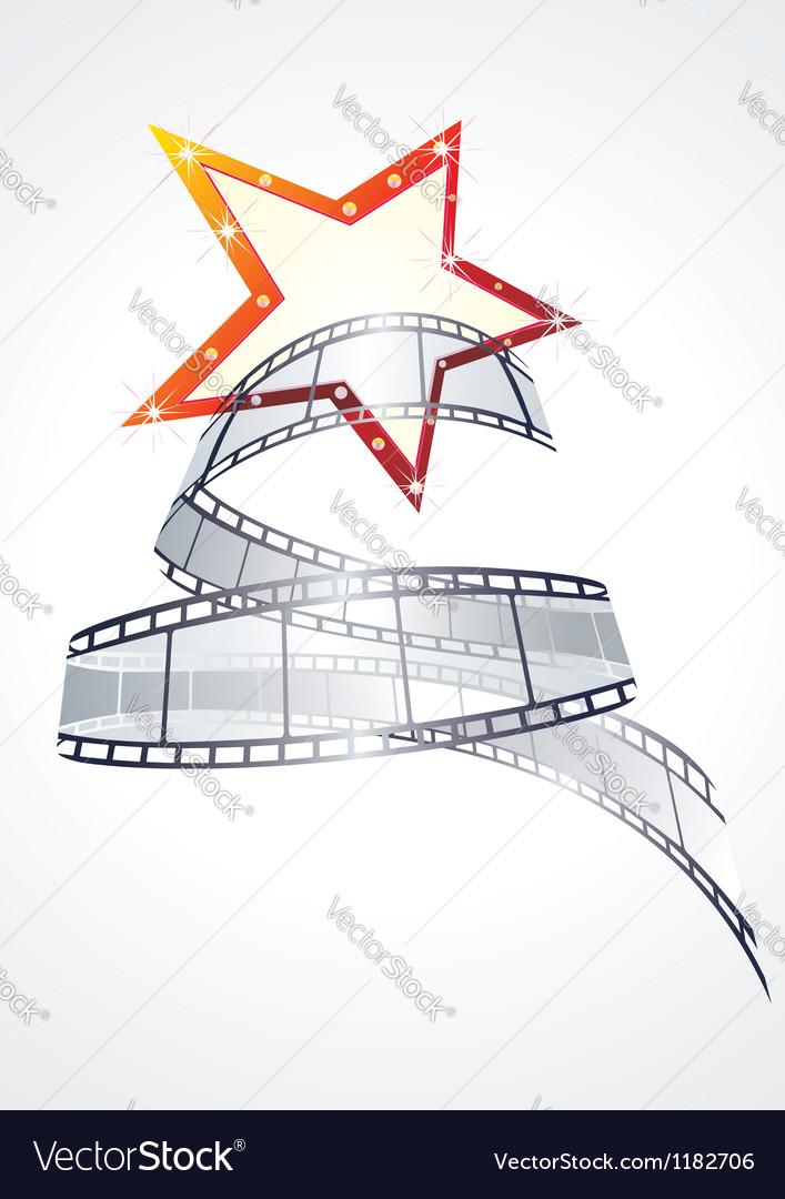 Realistic 3d film reel vector image