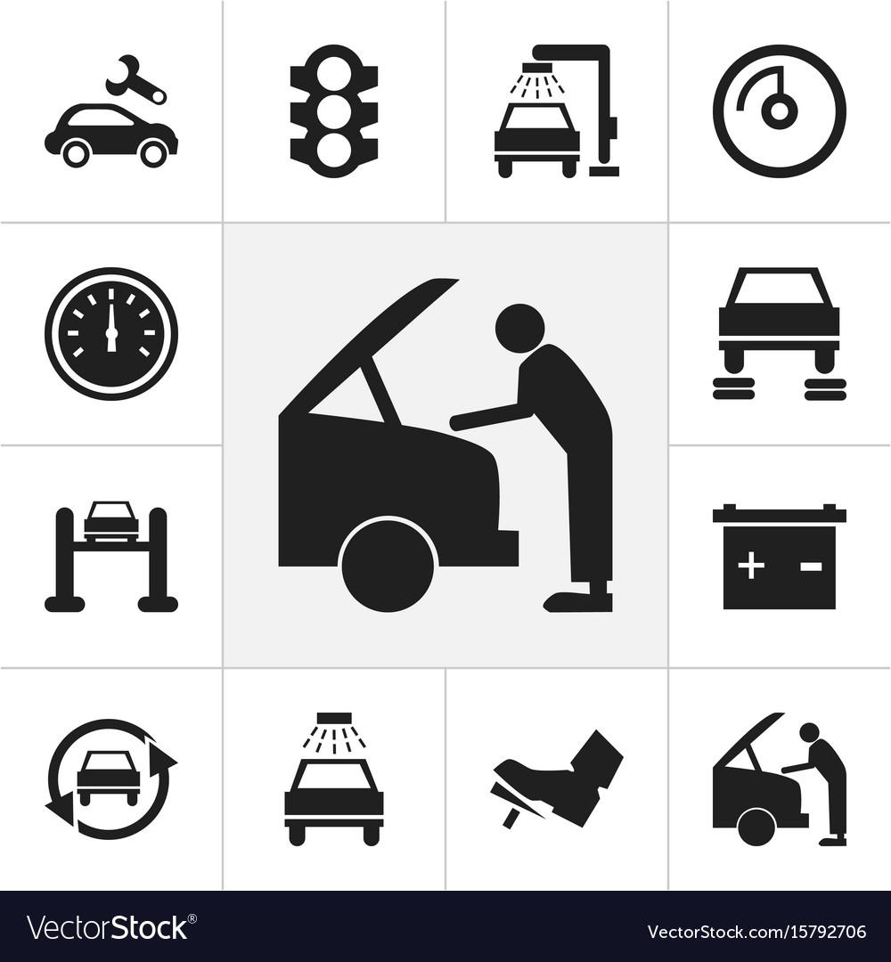 Set of 12 editable car icons includes symbols vector image set of 12 editable car icons includes symbols vector image buycottarizona