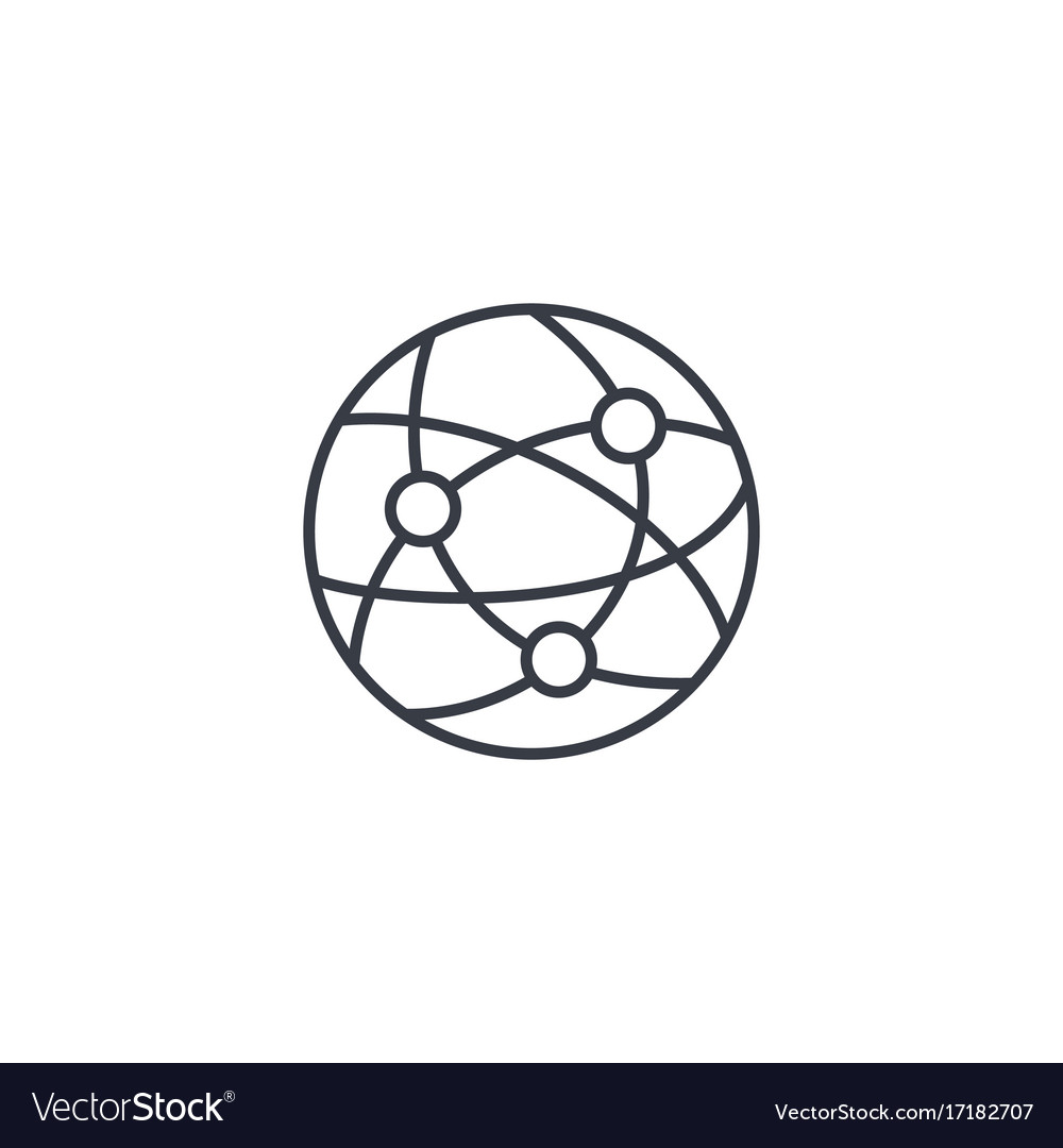 Network social media global communication vector image