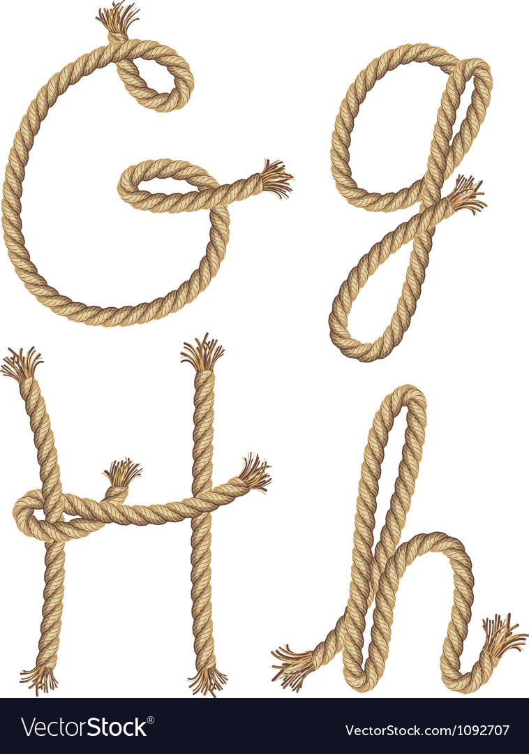 Rope alphabet vector image