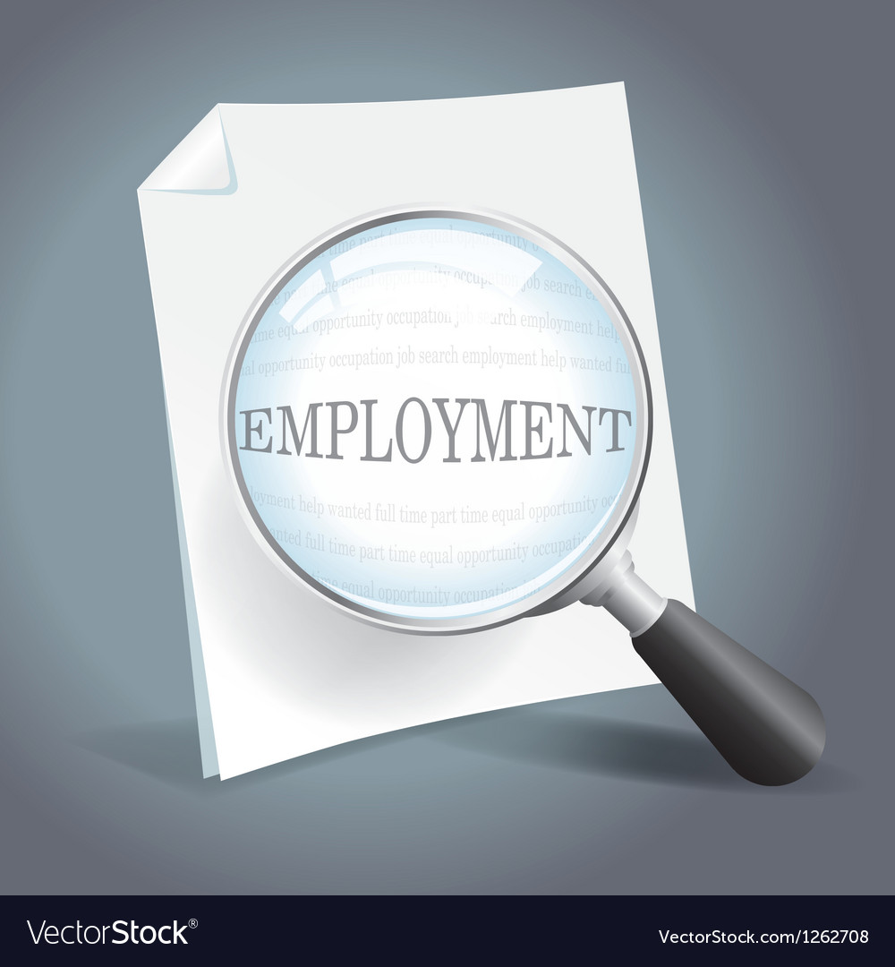 Searching for employment concept vector image