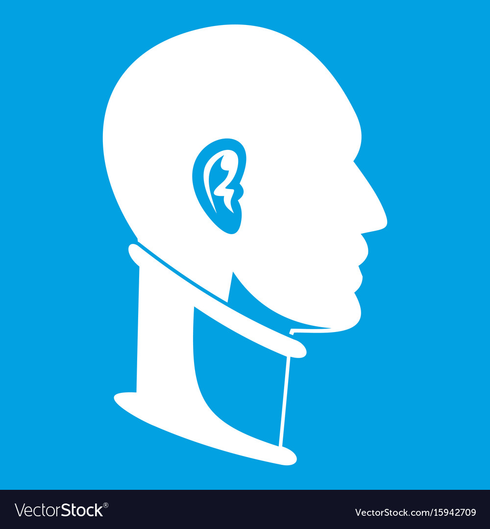 Cervical collar icon white vector image