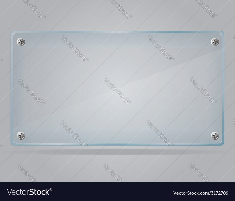 Transparent glass plate 01 vector image