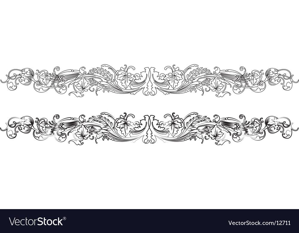 Baroque border vector image