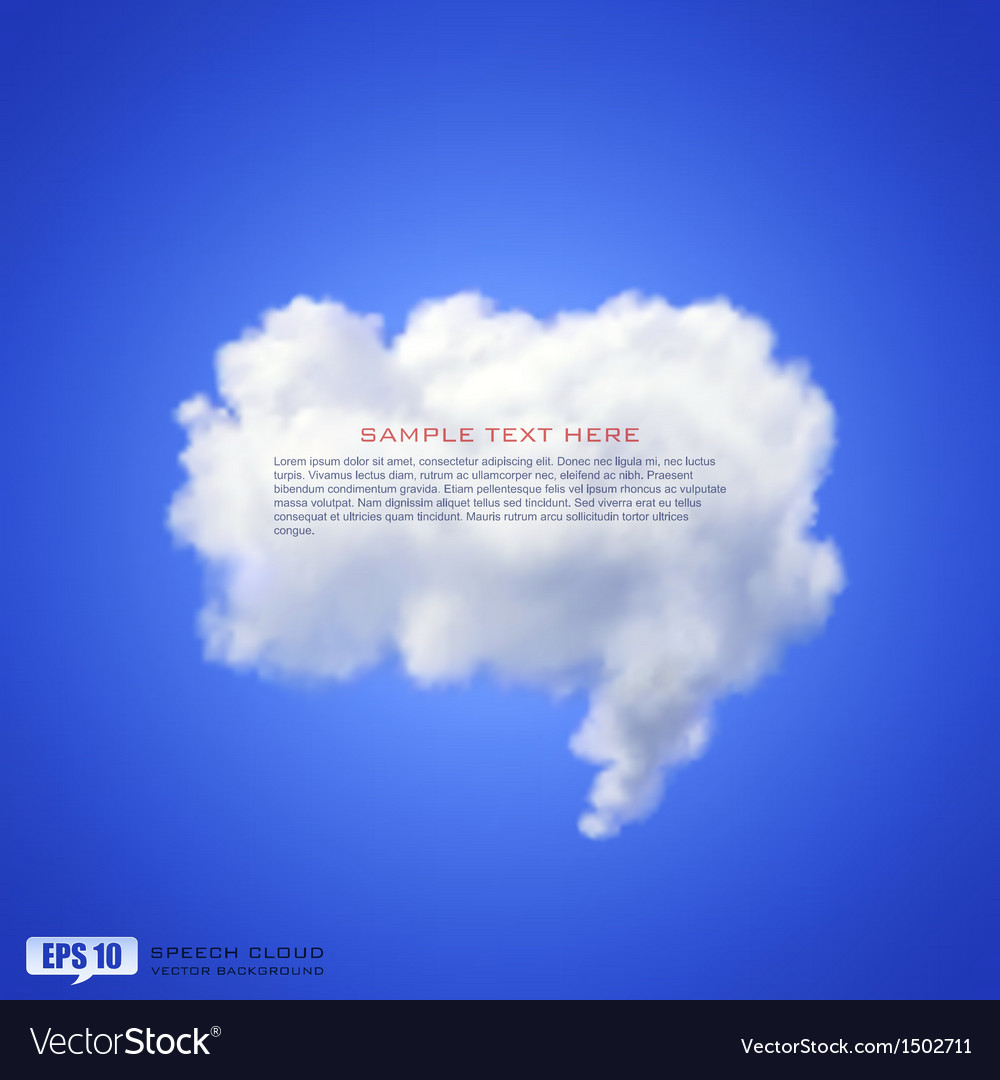 Speech cloud vector image