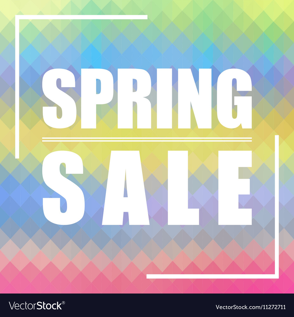 Spring Sale background Can be used for cards vector image