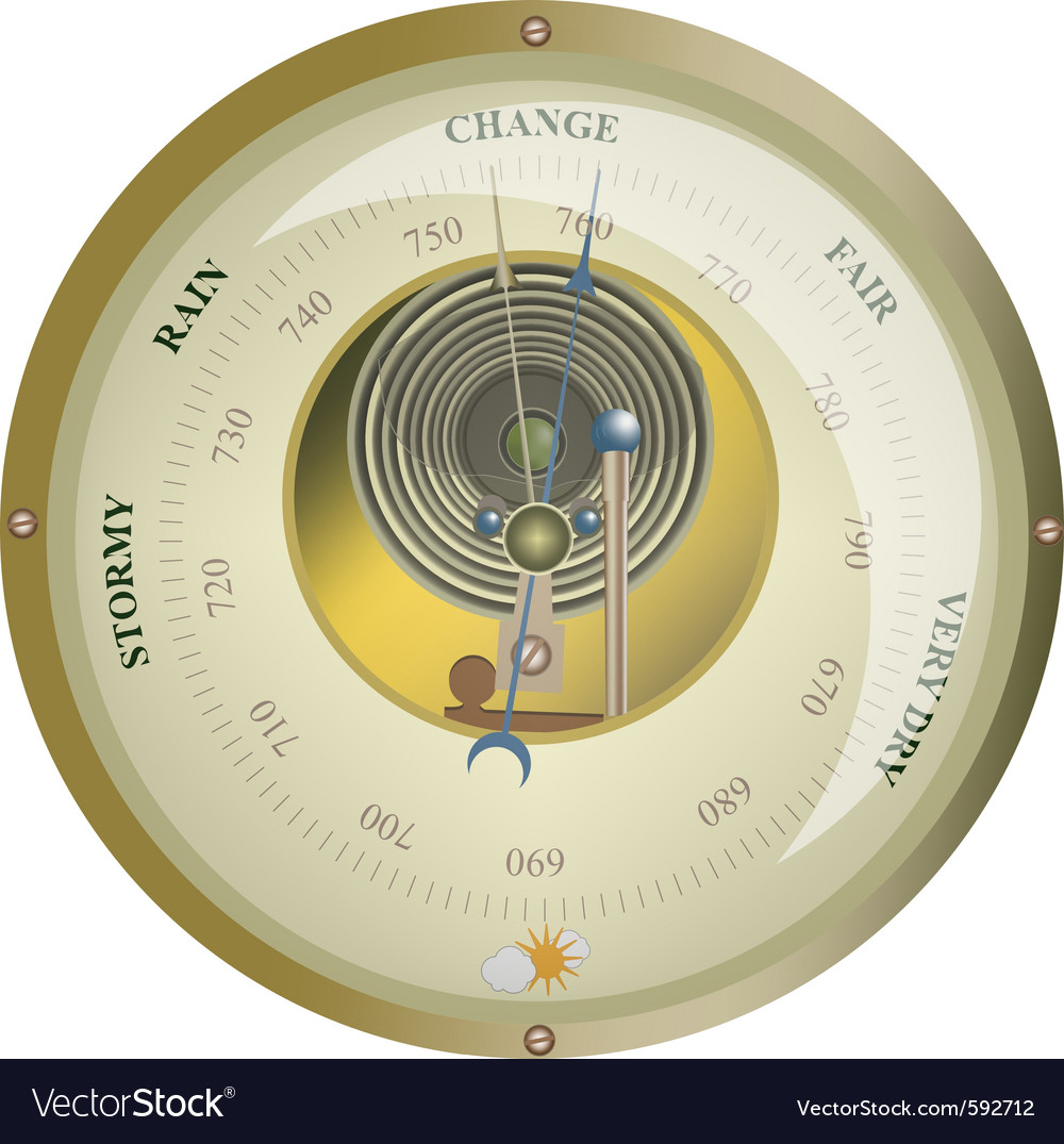 Barometer vector image