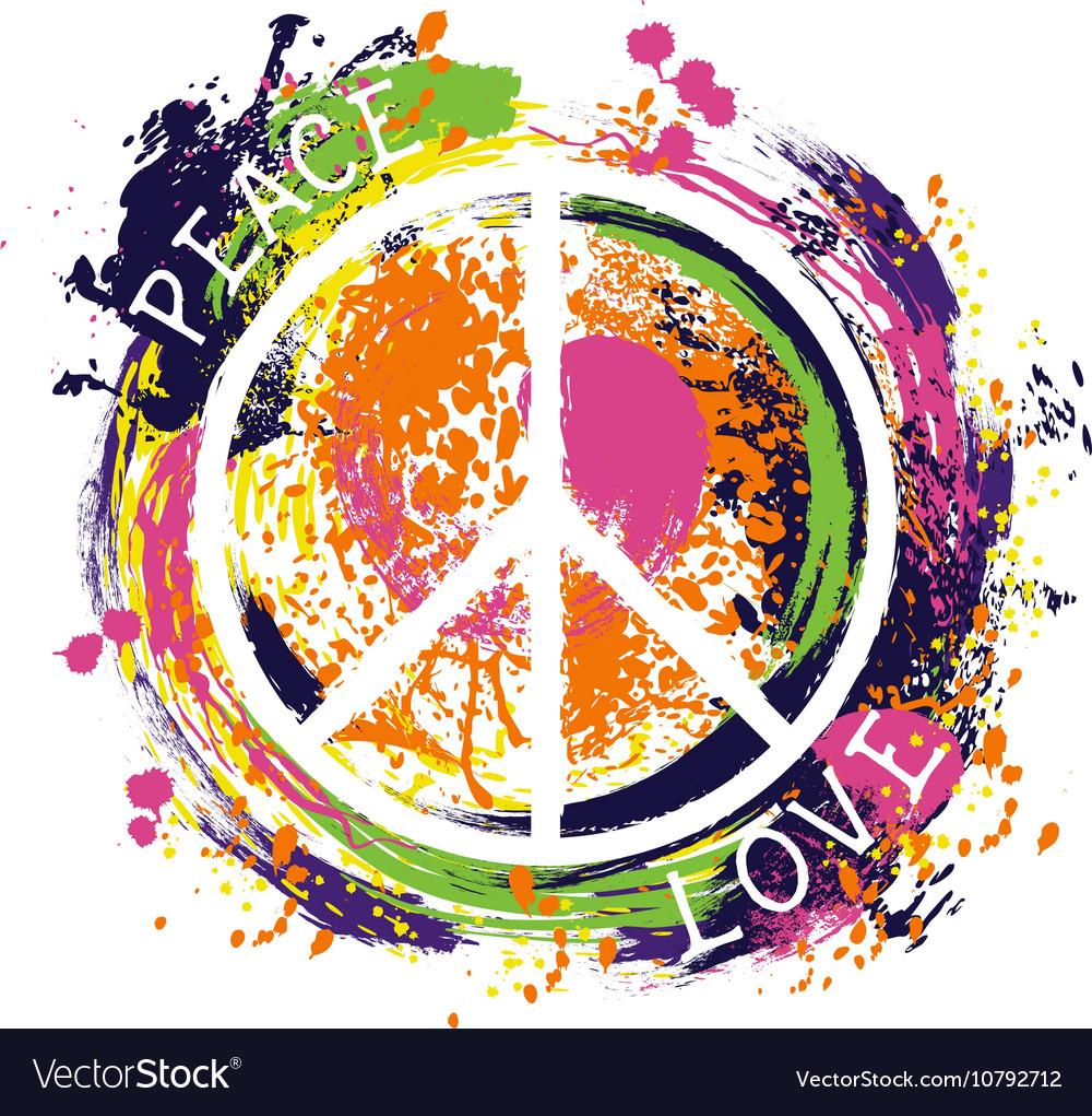 Hippie peace symbol vector image