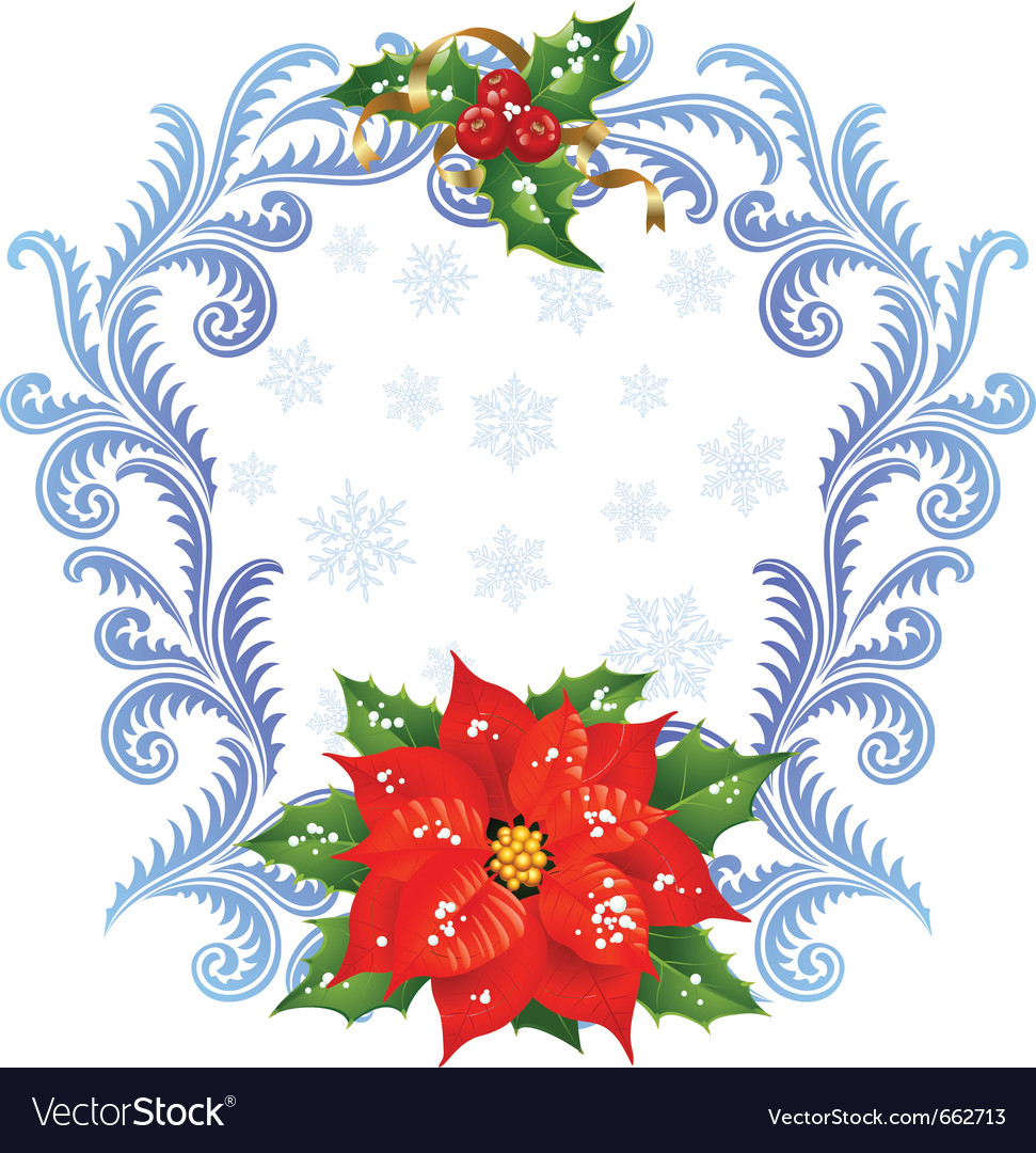 Christmas and new year greeting card 5 vector image