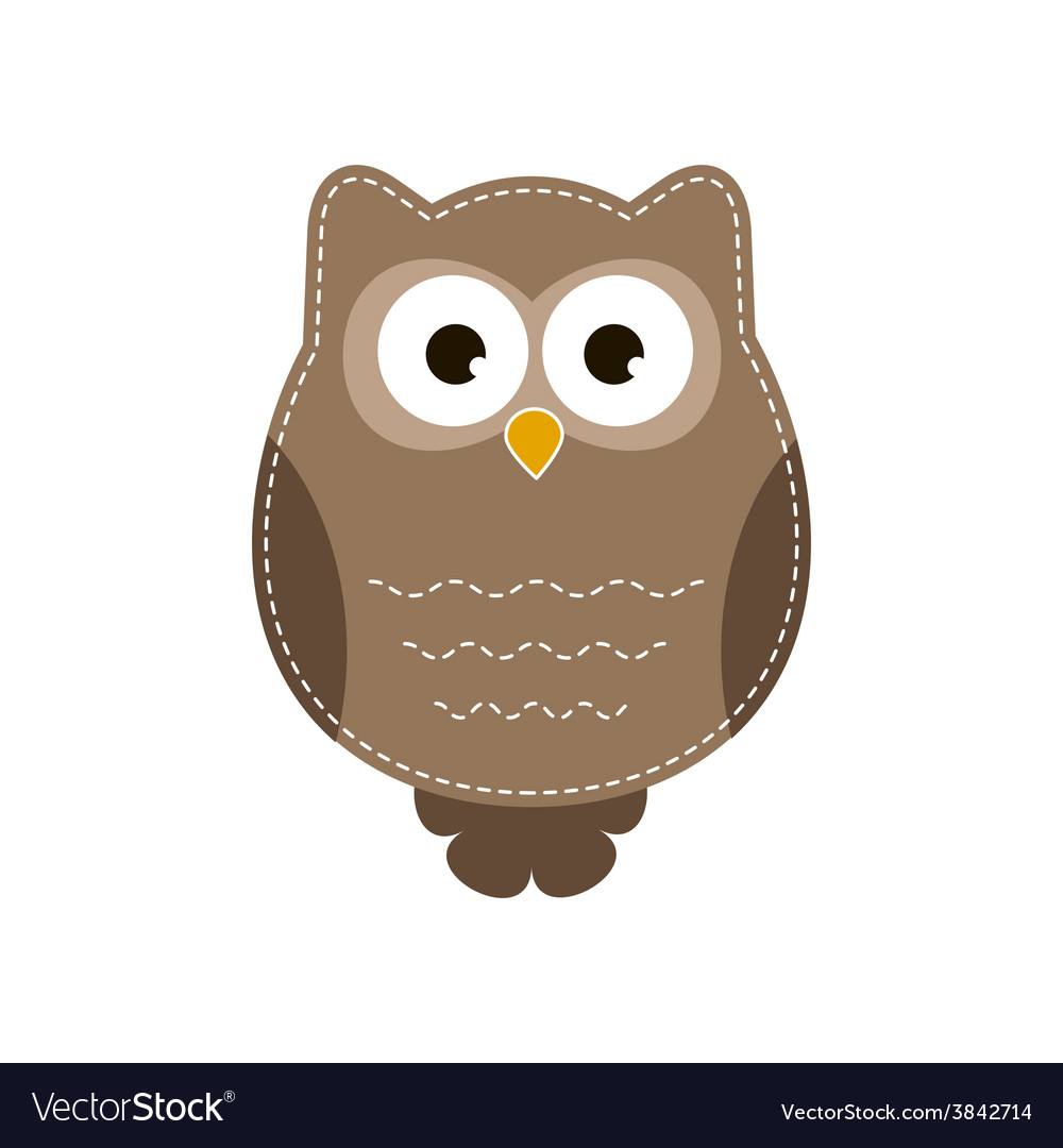 Cartoon owlet vector image