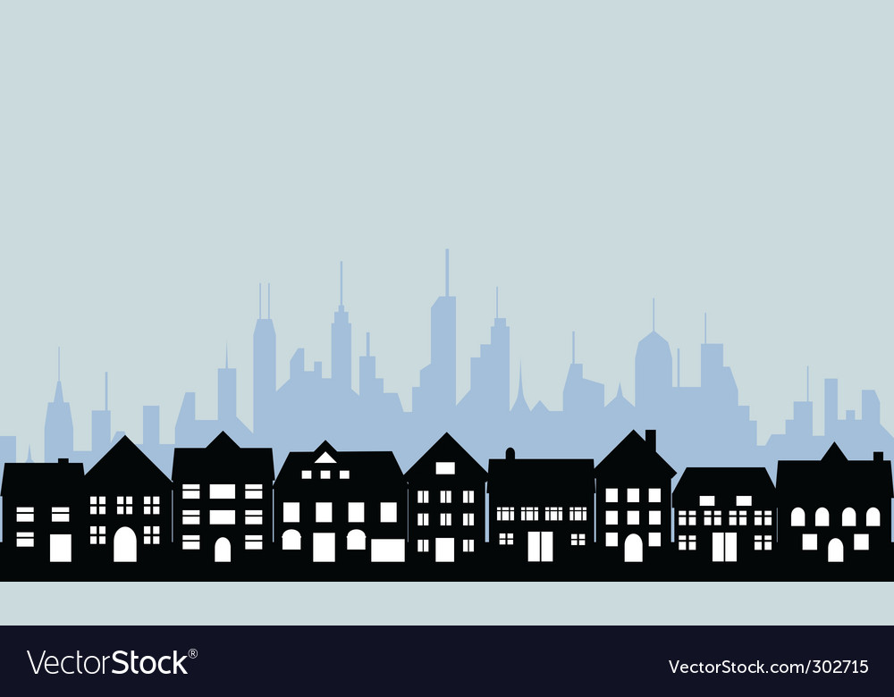 City and town vector image