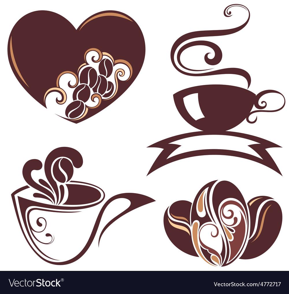 Coffee design symbols vector image