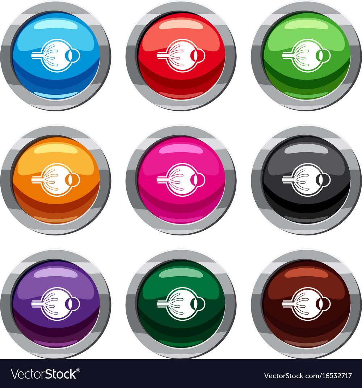 Human eyeball set 9 collection vector image