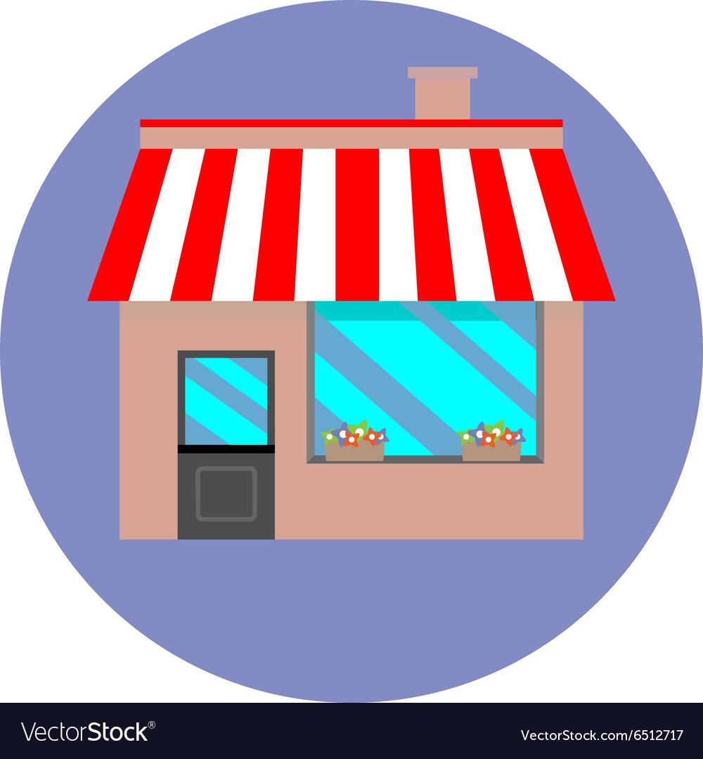 Icon shop building retail vector image